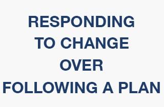 agile responding to change