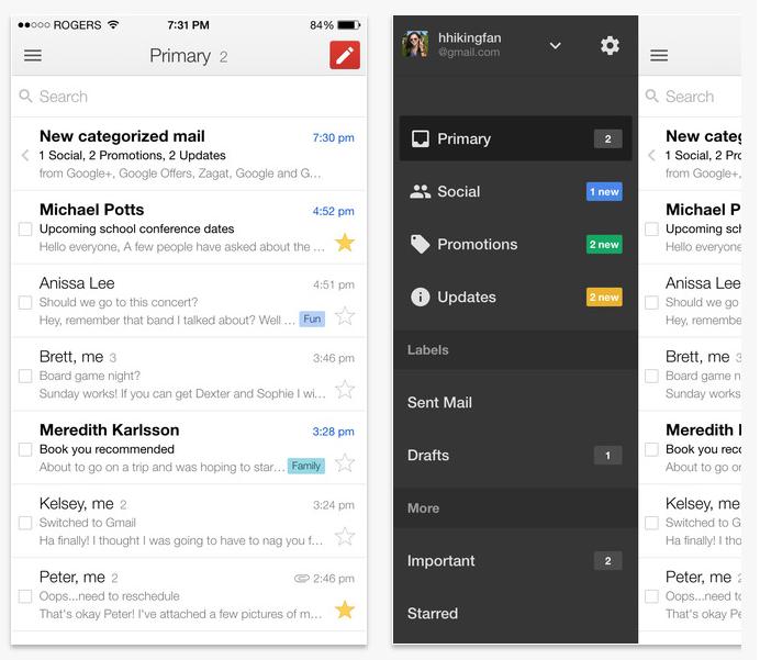 gmail hybrid app