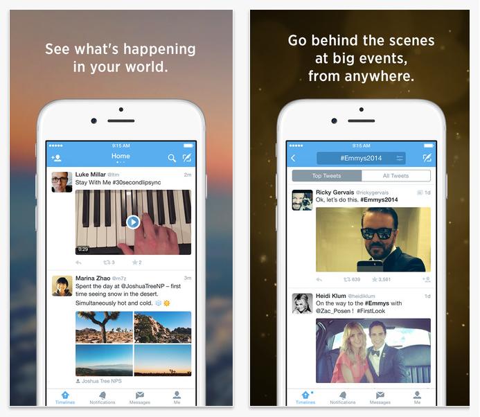 twitter hybrid app