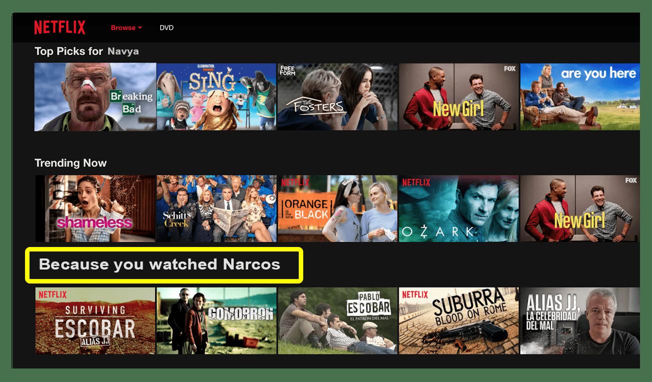 Amazon and Netflix