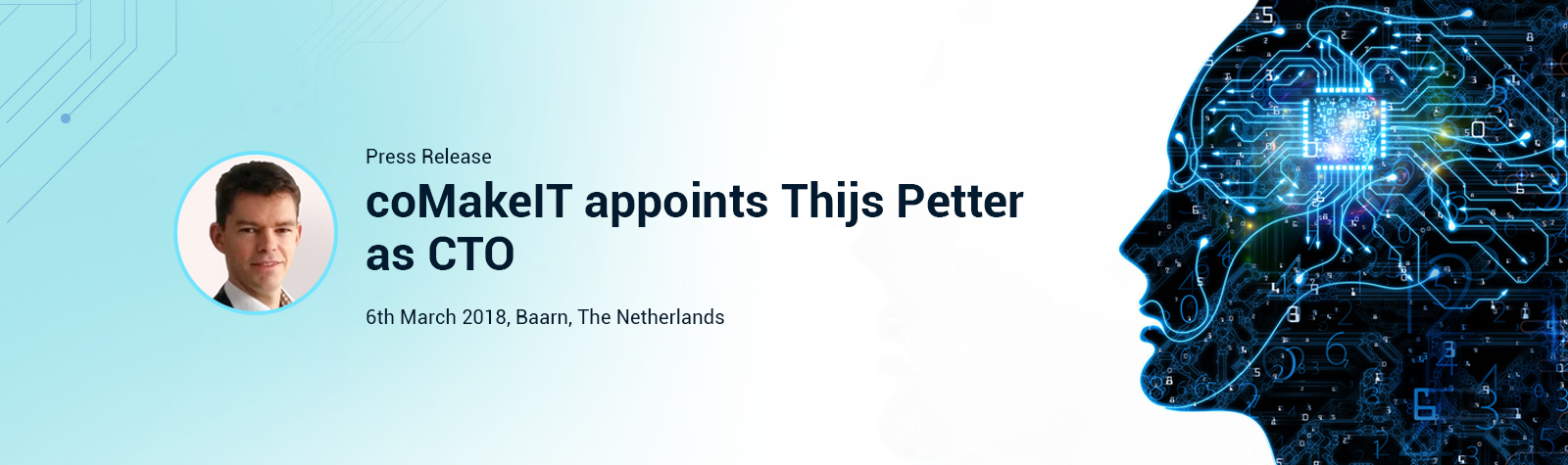 coMakeIT appoints Thijs Petter as CTO