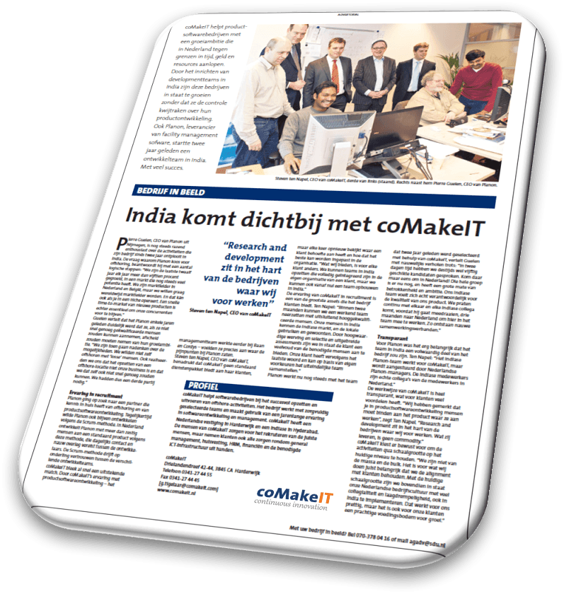 coMakeIT | Article Automatiseringsgids reference customer Planon