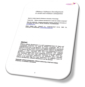 coMakeIT   whitepaper research eindhoven university on offshoring for isvs