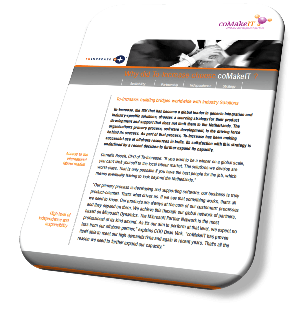 coMakeIT | Customer Reference Case ToIncrease