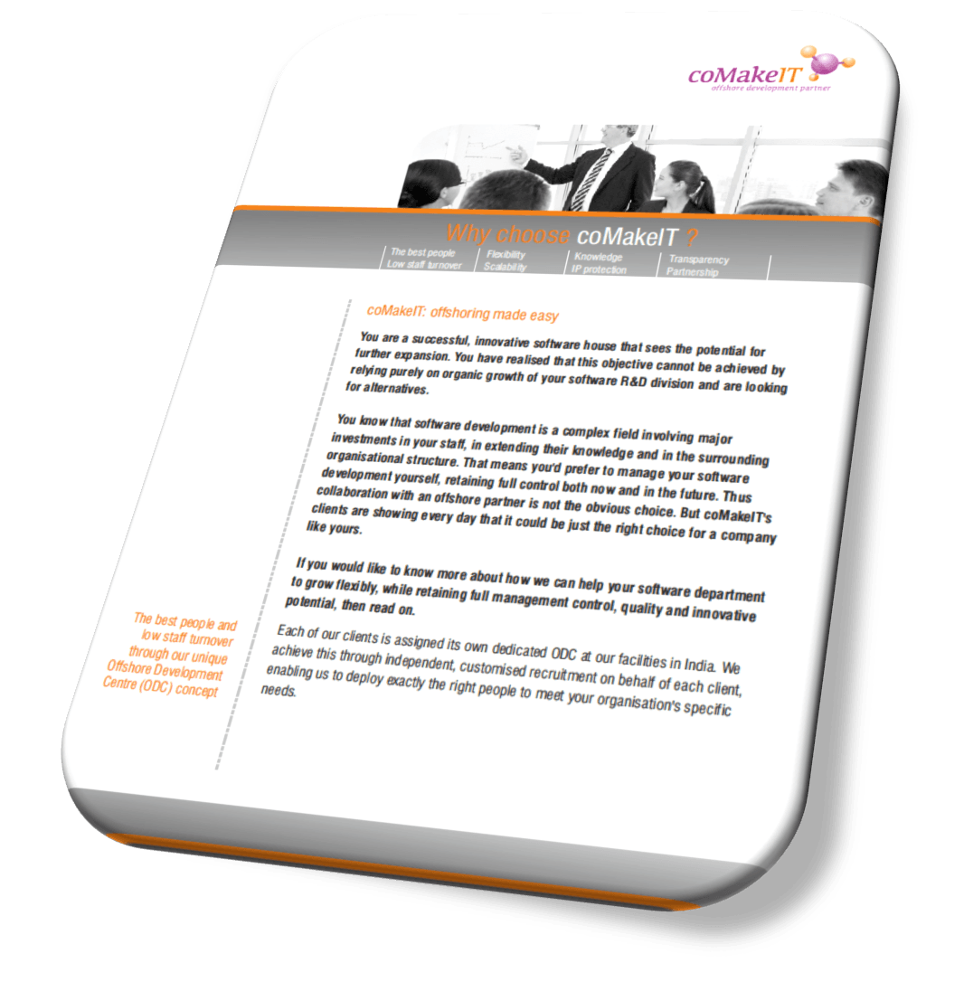 coMakeIT   Case study successful offshoring between InnoVites and coMakeIT